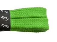 Šnúrky bavlnené ploché 100 cm zelená