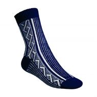 Ponožky Gultio art. 10 - zimné nórsky vzor modro biele