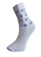 Art. 8 Klasické dámske PRAVÉ VALAŠSKÉ ponožky Modrotlač Kvietok Knebl Hosiery