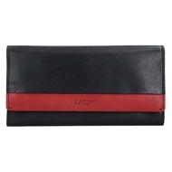 Dámska peňaženka LAGEN kožená 50400 BLK/CARDINAL