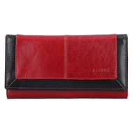 Dámska peňaženka LAGEN kožená BLC/4228 RED/BLK