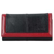 Dámska peňaženka LAGEN kožená BLC/4228 BLK/RED