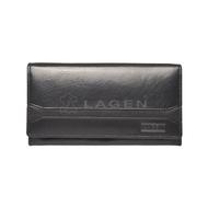 Dámska peňaženka LAGEN kožená W-2025 BLK