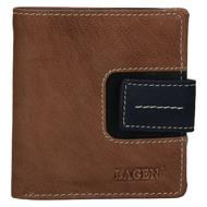Dámska peňaženka LAGEN kožená 3305/18 TAUPE/NAVY
