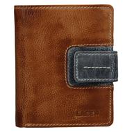 Dámska peňaženka LAGEN kožená 3310 CARAMEL/GREY