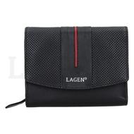 Dámska peňaženka LAGEN kožená 5436 BLK/RED