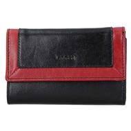 Dámska peňaženka LAGEN kožená BLC/4390 BLK/RED