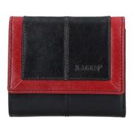 Dámska peňaženka LAGEN kožená BLC/4391 BLK/RED