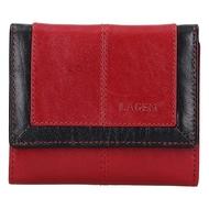Dámska peňaženka LAGEN kožená BLC/4391 RED/BLK