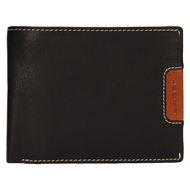 Pánska peňaženka LAGEN kožená 615195 BLK/TAN