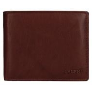Pánska peňaženka LAGEN kožená V-76 BRN
