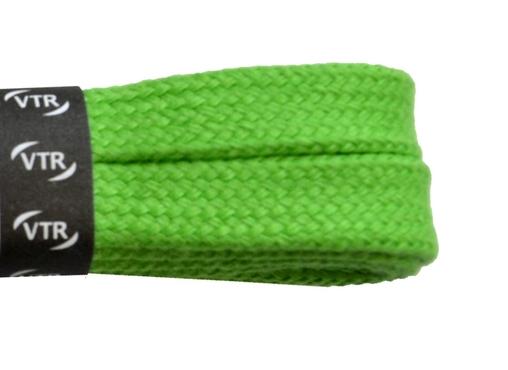 Šnúrky bavlnené ploché 90 cm zelená